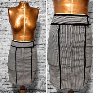 Nanette Lepore Striped Pencil Skirt